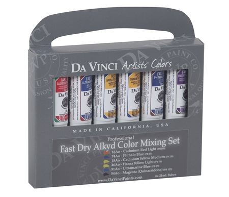 Da Vinci Fast Dry Alkyd Oil Color Mixing Set of 6