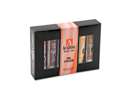 Grumbacher Academy Oil Paints Basic Set of 6