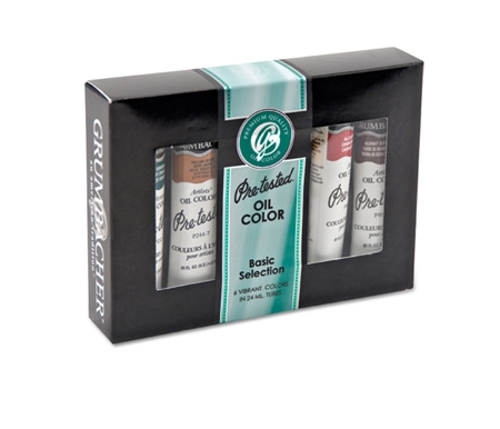 Grumbacher Pre-Tested Oil Paint Basic Set of 6