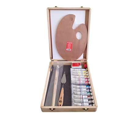 LUKAS Studio Oils Deluxe Wood Box Set