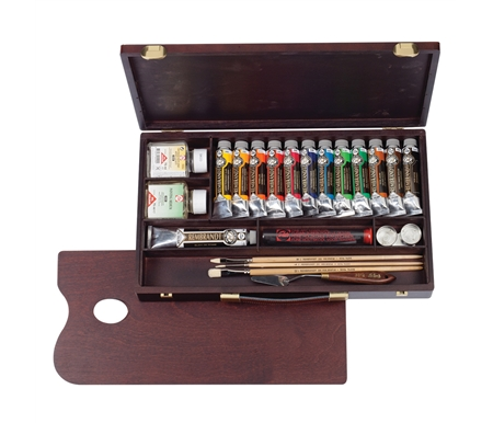 Rembrandt Extra-Fine Artists Oils Professional Wood Box Set