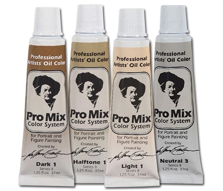 These professional colors are formulated specifically for portrait and figure painting.