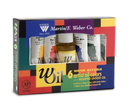 wOil Paints - Set of 6 with Linseed Oil