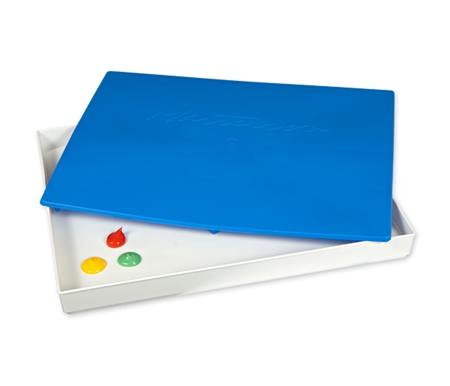 Masterson\'s palettes keep acrylics and other waterbased paints moist on the open palette for hours.