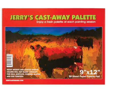BUY:1 Jerry's Cast Away Paper Palette Pad (9x12, 12x16 or 16x20)