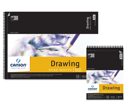 These premium drawing pads feature a bright white, fine-toothed paper that is ideal for detailed drawings and vibrant colors.