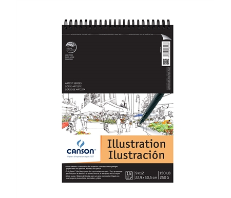 Canson Artist Illustration Pad 9x12