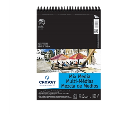 Canson Artist Mixed-media Pad 9x12