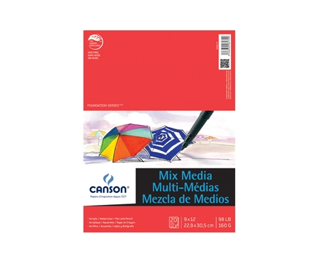 Canson Foundation Mix Media Pad 9x12