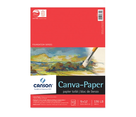 This canvas paper pad is great for plein air painting outdoors!
