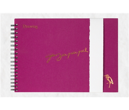 GarzaPapel Handmade Drawing Paper Notebook with Luxe Hard Cover