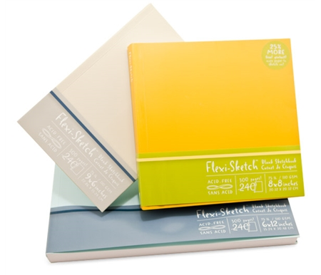 Try new stylish and flexible Flexi-Sketch sketchbooks and let the sketchbook flex to suit your art!