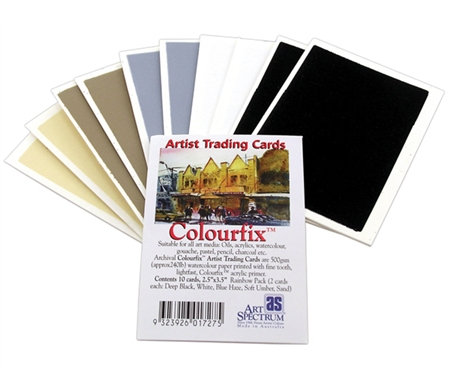 Colourfix Artist Trading Cards are sutiable for all media!