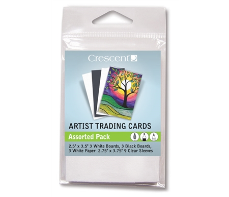 Assorted Artist Trading Cards with Protective Sleeves