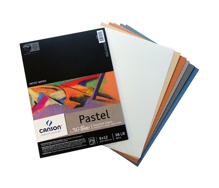 Pads of Canson Mi-Teintes Pastel Paper in beautiful multicolor selections!