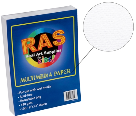 RAS Kids Art Resealable Multi-Media Paper Packs