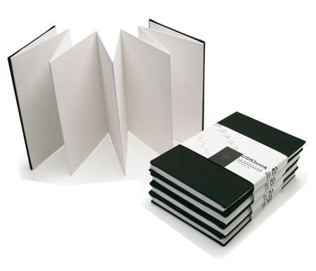 The Sennelier sketch book expands from pocket sized 4x6 to a large panoramic 6x40!