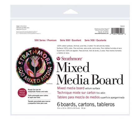 Strathmore 500 Series Mixed Media Board - 8x10 Pack of 6