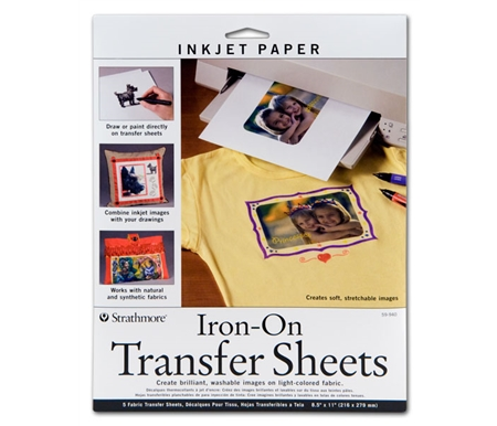 Iron-On Transfer Sheets For Light Colored Fabrics