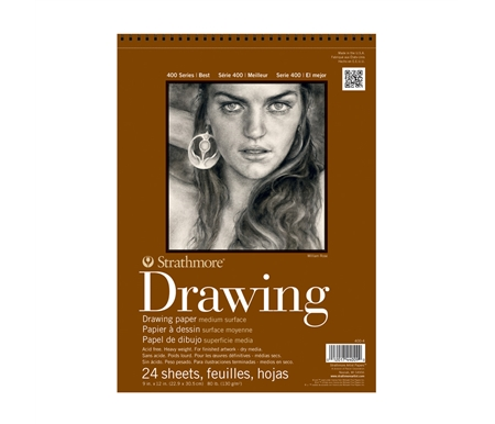 Medium is ideal for illustrations and final drawings with any dry media.