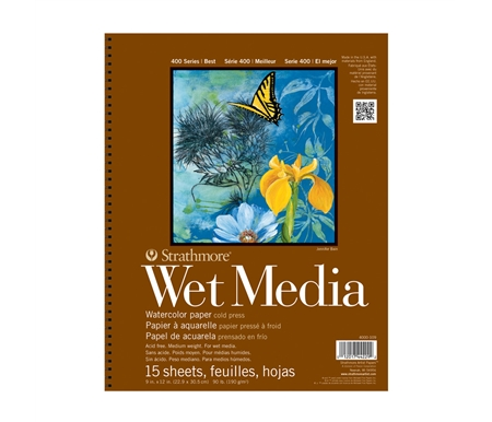 Use for all wet media such as watercolor, acrylic, gouache and pen and ink!