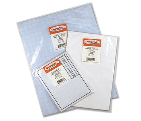 This vellum is a crisp, translucent quality paper for tracing, drawing or drafting while still maintaining a true archival quality.