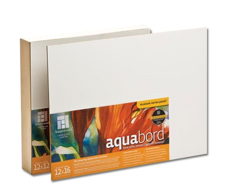 Aquabord™ is an archival, acid-free textured clay surface that absorbs watercolors like a fine paper.