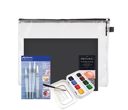 Fabriano and Sennelier Watercolor Set with Mesh bag