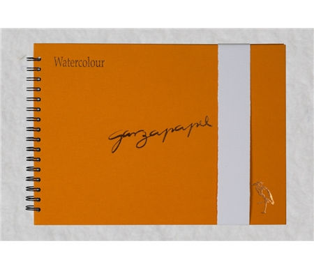 GarzaPapel Handmade Watercolor Paper Notebook with Luxe Hard Cover