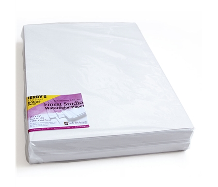 A Jerry's Exclusive! Richeson Resealable Bulk Packs. Generous packs of watercolor paper perfect for students and practice! Acid Free Alpha Cellulose.
