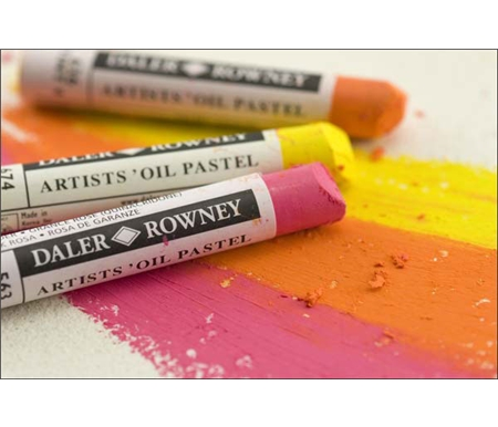 These oil pastels are great with acrylics, gouache, inks, pencil and charcoal.