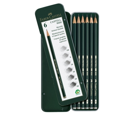 Faber-Castell 9000 Graphite Pencil Art Set of 6