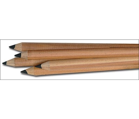 These pencils create soft black lines.