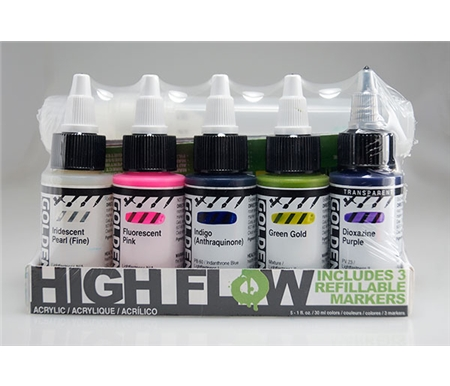 Golden High Flow Acrylic Markers Set