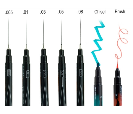 A range of different tips make it easier for you to choose your drawing tool!