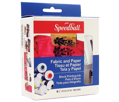 New! Fabric & Paper Block Printing Ink Set