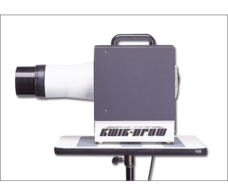 The Kwik-Draw even has rubber mounted feet, so it will not mark your table or desktop.