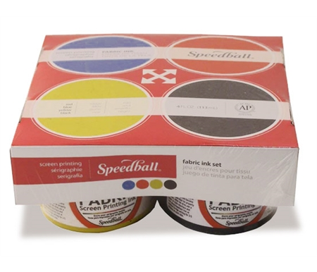 Speedball Fabric Screen Printing Set of 4 - Basic Colors