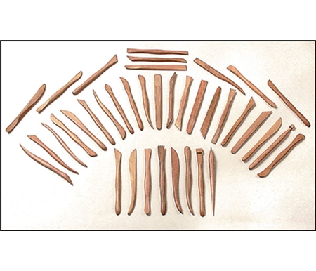 These smooth sanded double ended tools are the most popular for clay modeling, but are great for many applications.