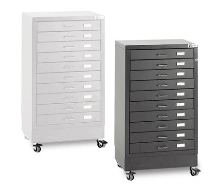 Bieffe BF 10 Drawer Mobile Steel Organizer Cabinets