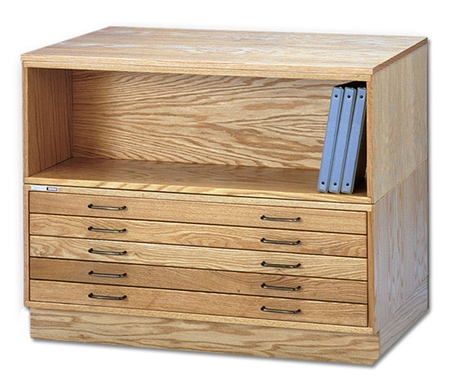Flat File with Base and Bookshelf