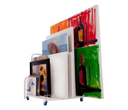 Unique and convenient storage, organization, and transport system for canvases, frames and more!