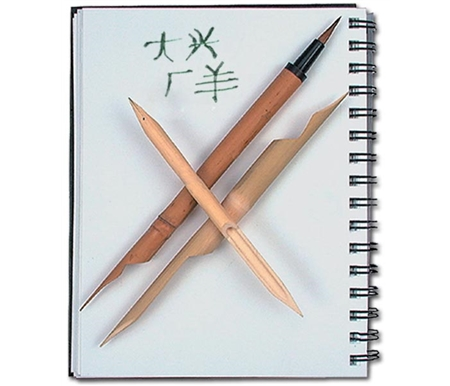 These traditional pens are made to be used with black Sumi-E ink.