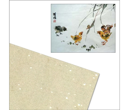 This paper has micro mica sparkles that give a bit of luster to the art.