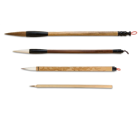 These traditional bamboo handled brushes serve as a prime selection for chinese painting.