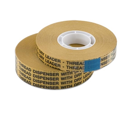 This thin film of double sided tape bonds instantly and permanently and will not dry out or deteriorate.