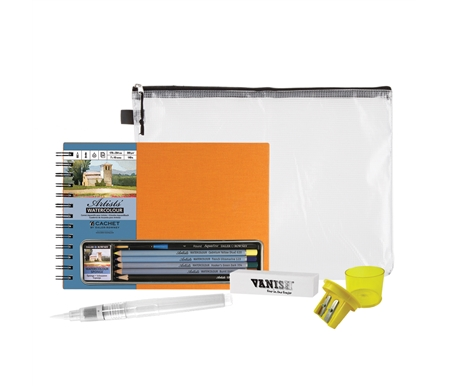 Cachet Watercolor Sketching Set with Mesh Zipper Bag