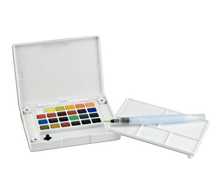 Lightweight and affordable, on-site watercolor painting is simple with a studio right at your fingertips!