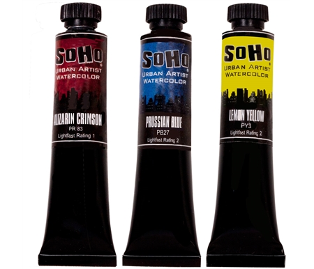 SoHo Urban Artist Quality Watercolor Paints
