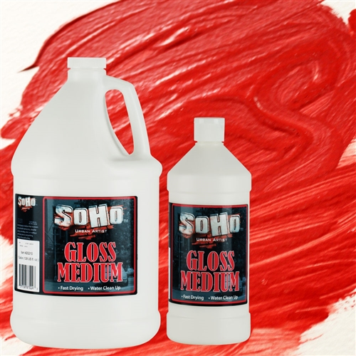Gloss Medium gives your painting more texture with a glossy look to it.